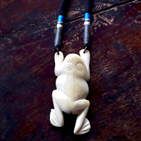 Vintage Laurel Burch Frog Necklace
