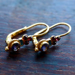 Iris Iolite & Garnet Earrings