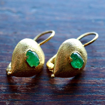 Evelina Emerald Earrings