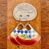 Vintage Laurel Burch Handbag Gold-Vermeil Earrings
