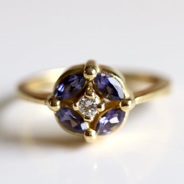 Twilight 14k Gold, Diamond and Sapphire Ring