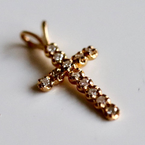 Gold & Diamond Cross Pendant