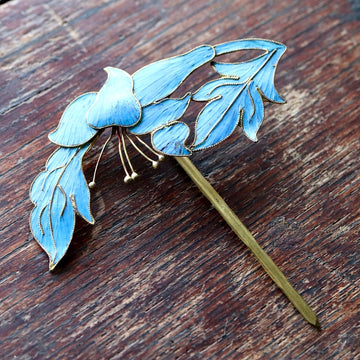 Antique Tian-Tsui (點翠) Hair Pin - Small