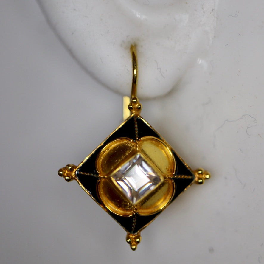 Vespucci 14k Gold and Citrine Earrings