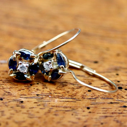Firmament Sapphire & Diamond Earrings