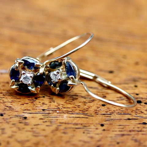 Firmament Sapphire and Diamond Earrings