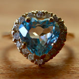 Chantilly Blue Topaz & Diamond Ring