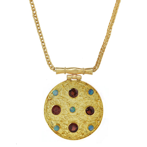 Ravenna Garnet & Opal Necklace