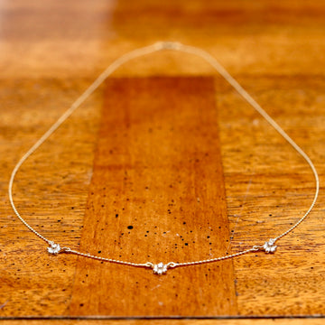 Celestial 14k Gold and Diamond Necklace