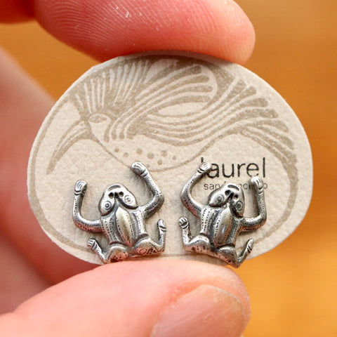 Vintage Laurel Burch Frog Studs