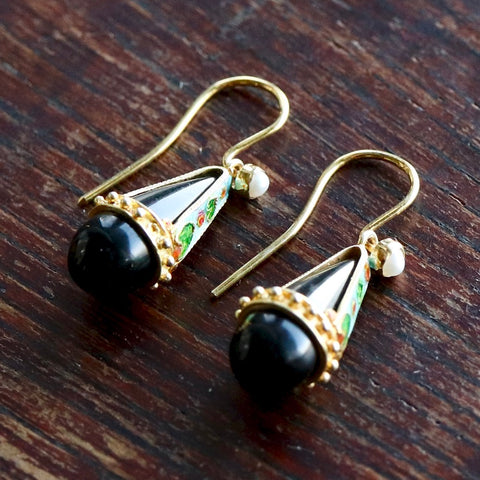 Drops of Heaven Onyx Earrings