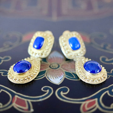 Malabar 14k Gold and Lapis Earrings