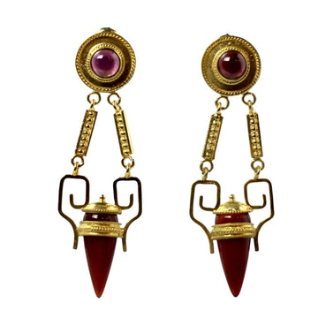 Nijinsky Carnelian and Garnet Earrings