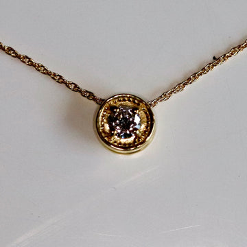 La Vie est Belle Clover 14k Gold and Diamond Necklace