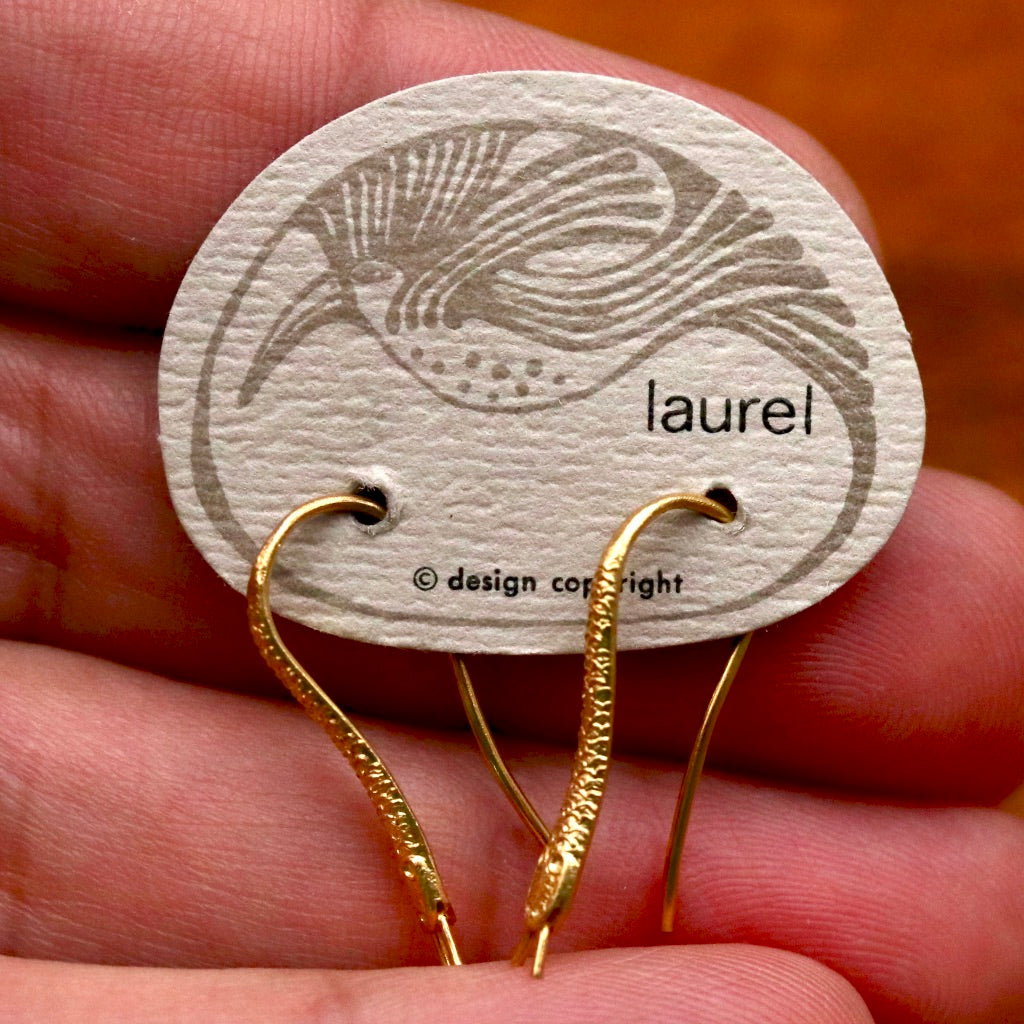 Vintage Laurel Burch Snake Gold-Plate Drops