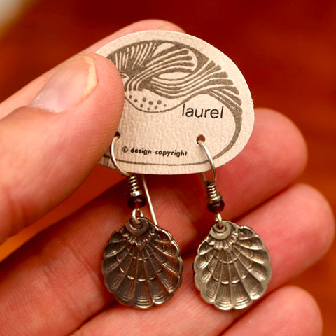 Vintage Laurel Burch Seashell Earrings