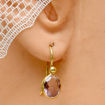 Avant-Garde Amethyst Earrings