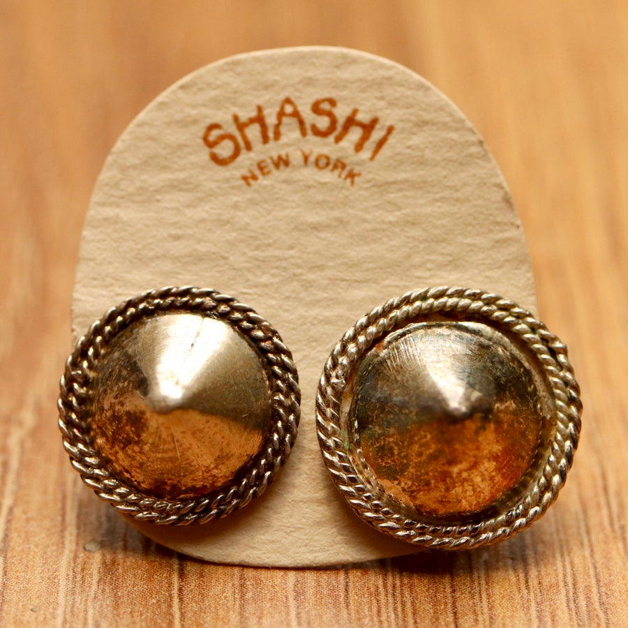 Vintage Shashi Tairona Silver Earrings