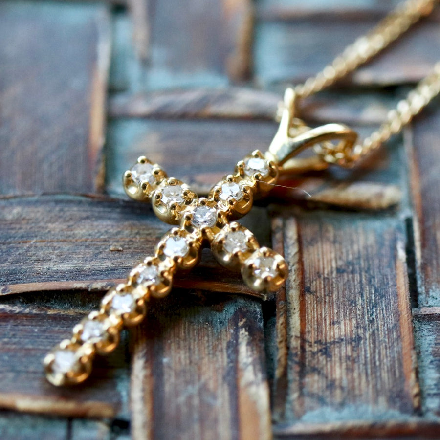 Nazareth 14k Gold and Diamond Necklace