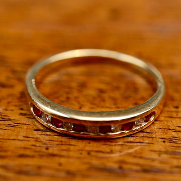 Millay 14k Gold, Ruby and Diamond Ring