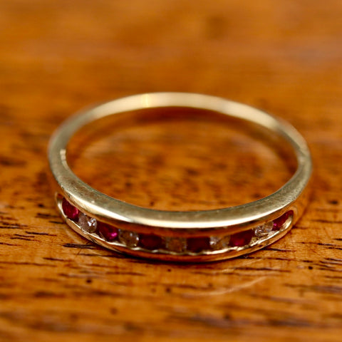 14k Millay Ruby and Diamond Ring