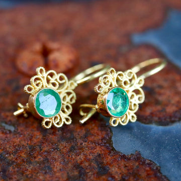 Contessa Chrysoprase Earrings