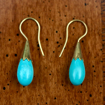 Cornflower Bud Egyptian Earrings
