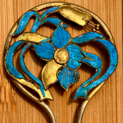 "Antique Qing Dynasty 4 1/4"" Tian-Tsui Hair Pin"