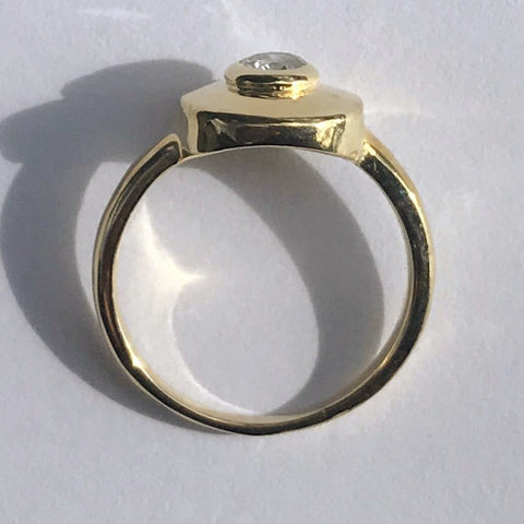 14k Diamond Eye Ring (.33ct)