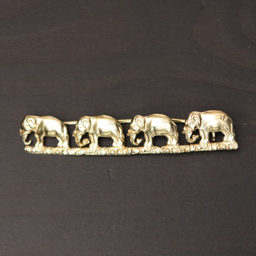 The Elephants Go Marching Brooch