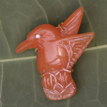 Isis Red Aventurine Bird Pin