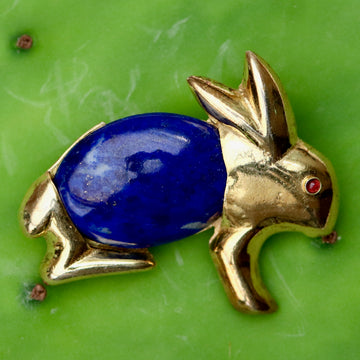 Surrey Lapis Rabbit Pin