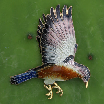 Yellow River Valley Hawk Pin