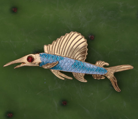 Nouveau Flying Fish Pin