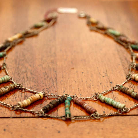 Faience Mummy Bead Choker