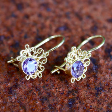 Contessa Amethyst Earrings