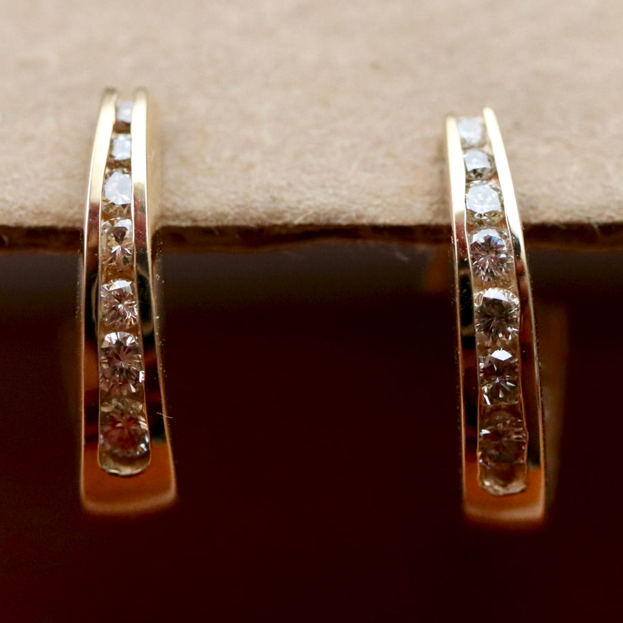 Constellation 14k Gold and Diamond Earrings
