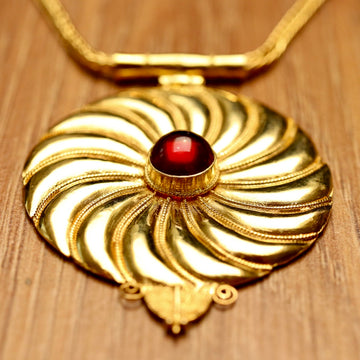 Asante-Sunburst Gold Vermeil Necklace