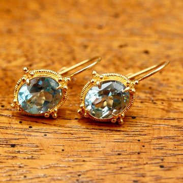 Aurelian Blue Topaz Earrings