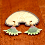 Vintage Shashi Papyrus Flower Earrings