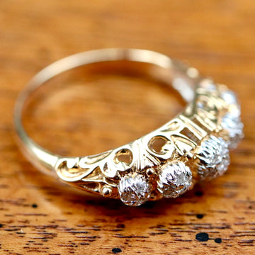 Electra 14k Gold and Diamond Ring