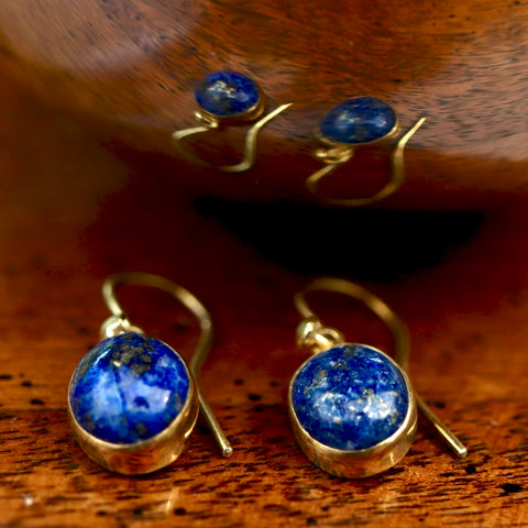 Starry Night Lapis Earrings