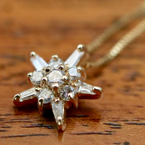 14k Starlight Diamond Necklace