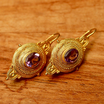 Northumbrian Amethyst Earrings