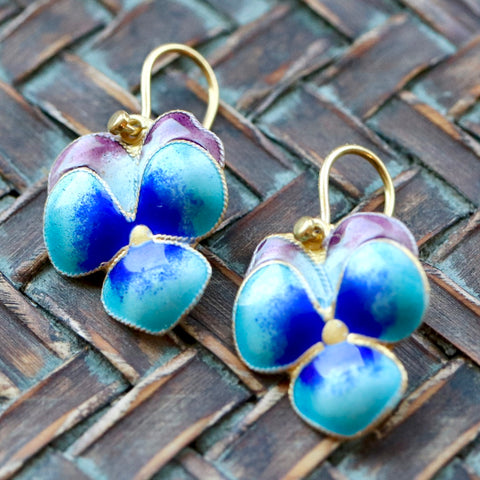 Blossom Enamel Earrings