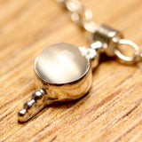 Greek Granulated Silver Moonstone Necklace