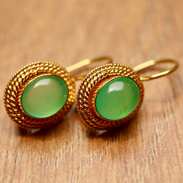 Lady Jane Grey Chrysoprase Earrings