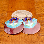 Vintage Laurel Burch Moth Gold-Vermeil Earrings