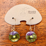 Vintage Shashi Morning Glory Flower Dangles