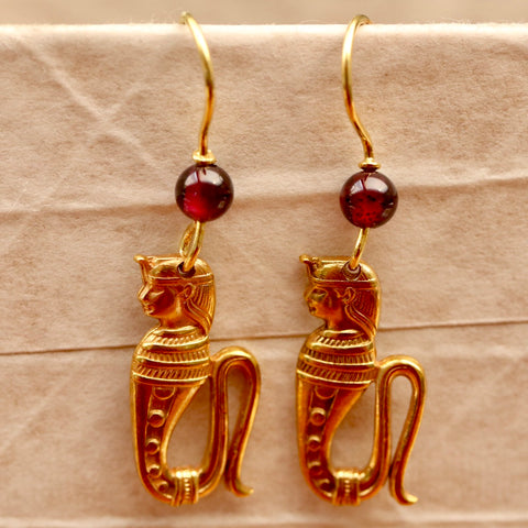 Serphant Isis Garnet Earrings